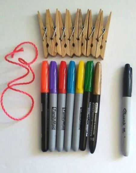 Weekday Clothespins - supplies