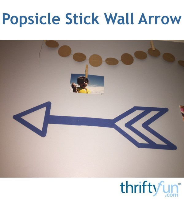 Popsicle Stick Wall Arrow Thriftyfun