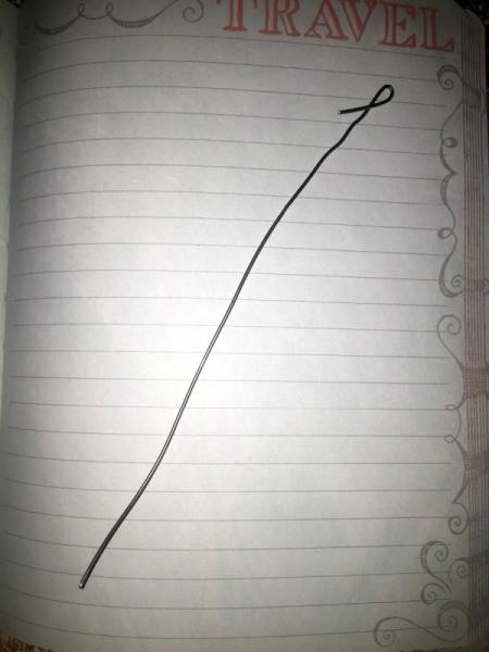Ribbon Flowers - make loop in end of wire