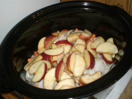 Apple added to pot
