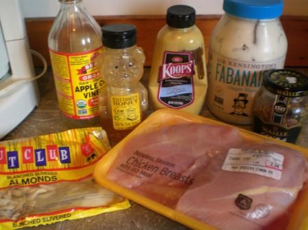 Honey Almond Chicken Strips ingredients