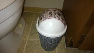 Refurbishing a Small Trash Can