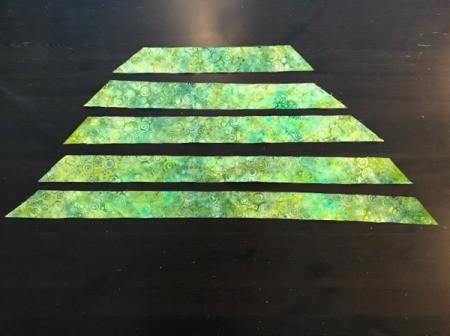 Clothespin Apron - cut strips of bias binding