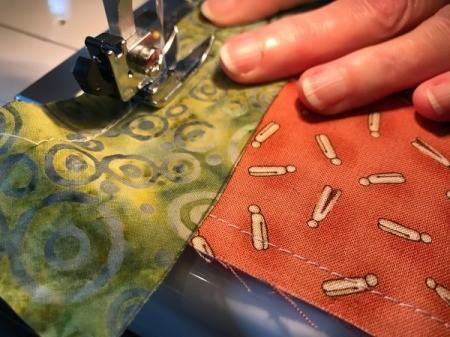 Clothespin Apron - stitching binding