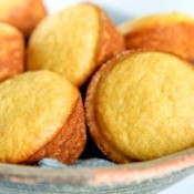 A batch of corn muffins in a bowl.