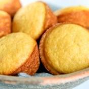 A batch of corn muffins in a bowl.