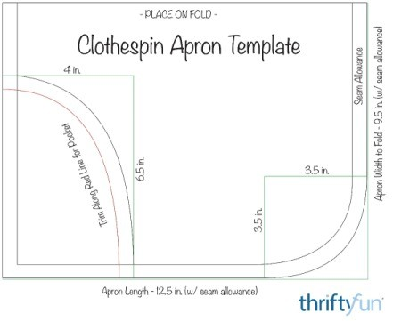 Clothespin Apron - template for apron and pouch