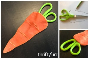 Felt Carrot Scissor Holder