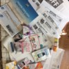 Coupons and samples from writing companies.
