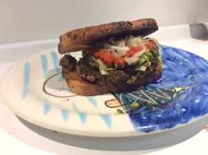 Eggplant Burger on plate