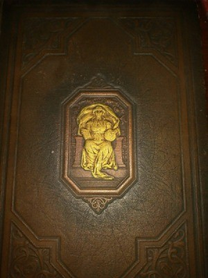 Value of 1924 World B ook Encyclopedia - embossed brown leather cover