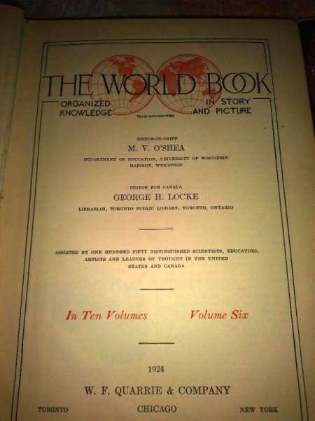 Value of 1924 World Book Encyclopedia