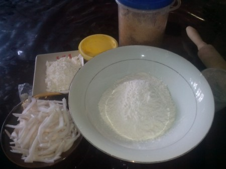 Homemade Buko Pie ingredients