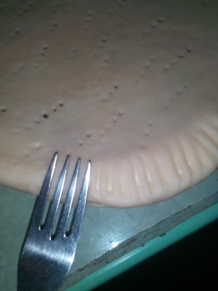 forking edge of Buko Pie