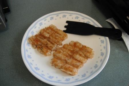 Tator Tot Sandwich on plate