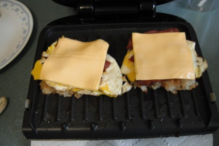 Cheese added to Breakfast Sandwich