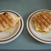 Tator Tot Breakfast Sandwiches on plates