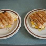 Tator Tot Breakfast Sandwiches on plate