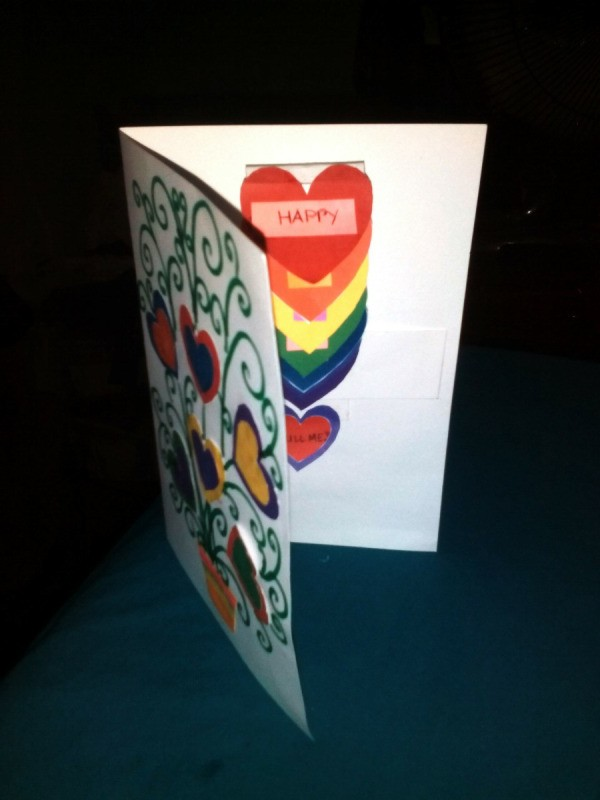 Mother's Day Surprise Greeting Card - standing open card
