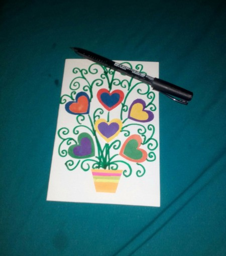 Mother's Day Surprise Greeting Card - decorate the front of the card