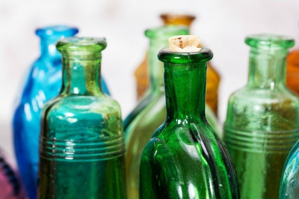 How to repair a chipped glass bottle thriftyfun for Best way to sand glass bottles