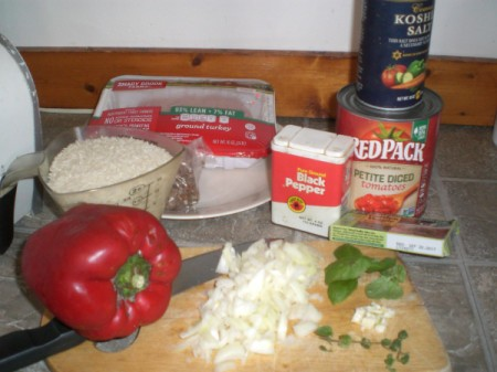Unstuffed Peppers ingredients