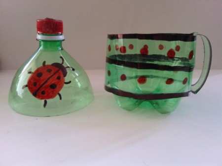 Recycled Soda Bottle Cup - done