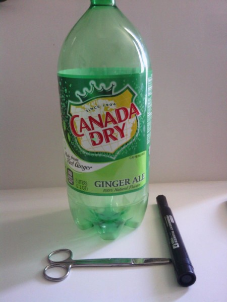 Recycled Soda Bottle Cup - supplies