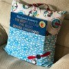 Book Pocket Pillow - finished pillow with book in pocket