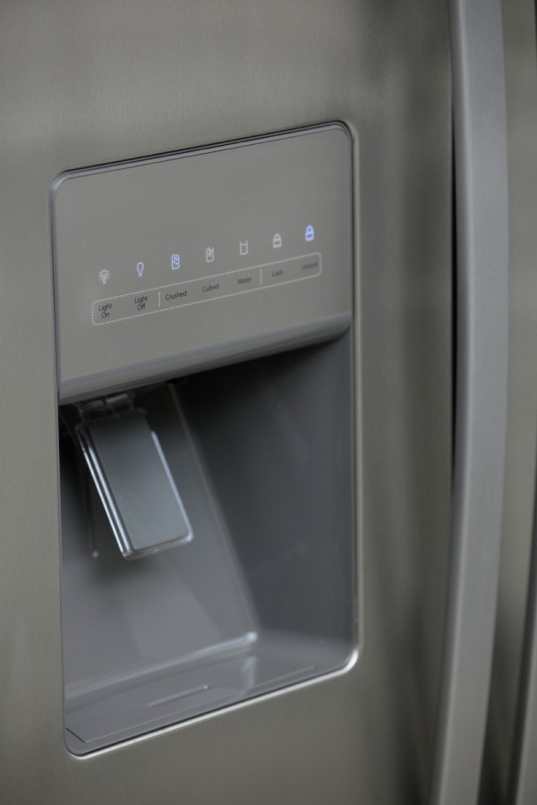 An Icemaker On The Door Of A Refrigerator