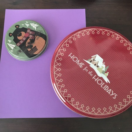 3D Flower Mother's Day Card - metal container lids for drawing circles