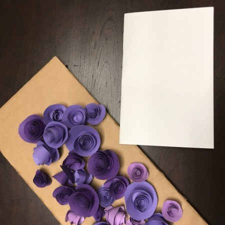 3D Flower Mother's Day Card - use sturdy paper as the card base