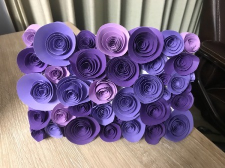 3D Flower Mother's Day Card - completely covered