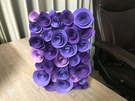 3D Flower Mother's Day Card - finished card on the vertical