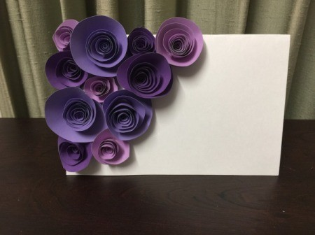 3D Flower Mother's Day Card - optional flower coverage