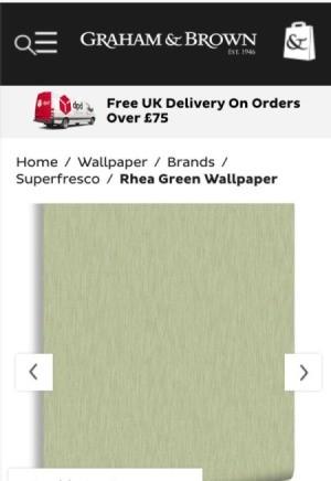 Graham and Brown Rhea Green Wallpaper