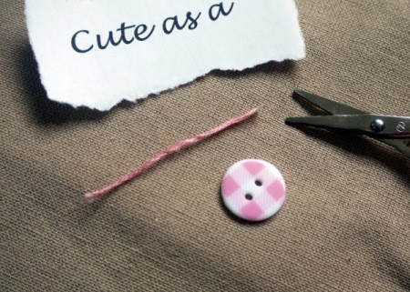 New Baby Greetings Card - cut embroidery floss