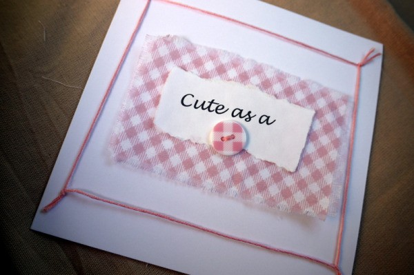 New Baby Greetings Card - finished card