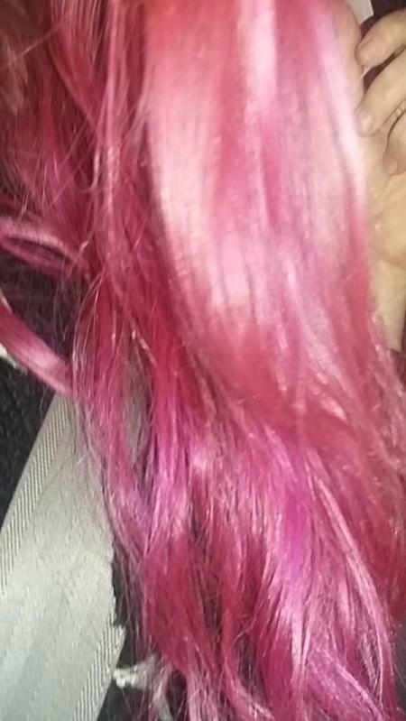 Toning Down Dyed Hair - bright pink hair