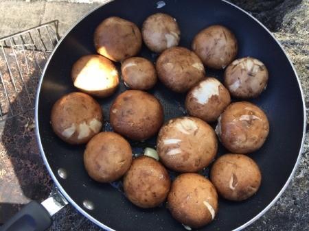 cooking stuffed mushrooms