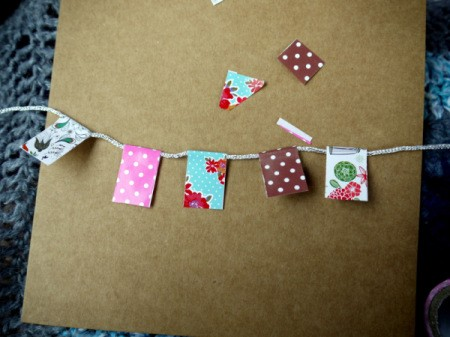 Bunting Greetings Card - trim them all to the same length