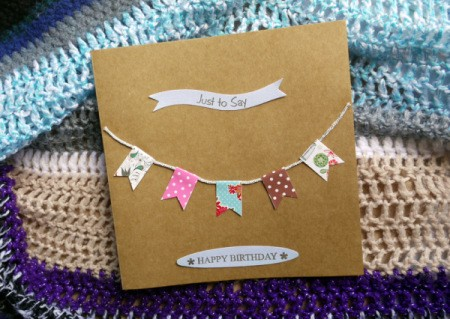 Bunting Greetings Card - finished card