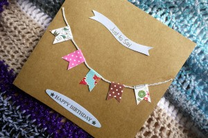 Bunting Greetings Card - add your message to the front of the card