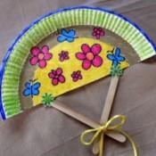 Paper Plate Fan - finished fan