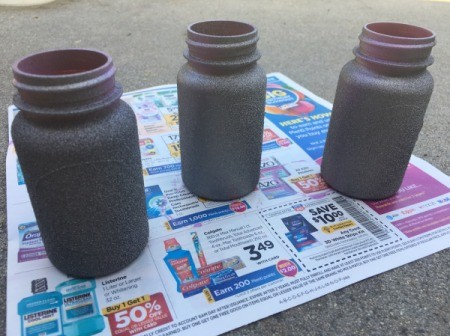 Mother's Day Pill Bottle Vases - allow to dry