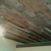 Pallet Wood Ceiling - view of finished ceiling