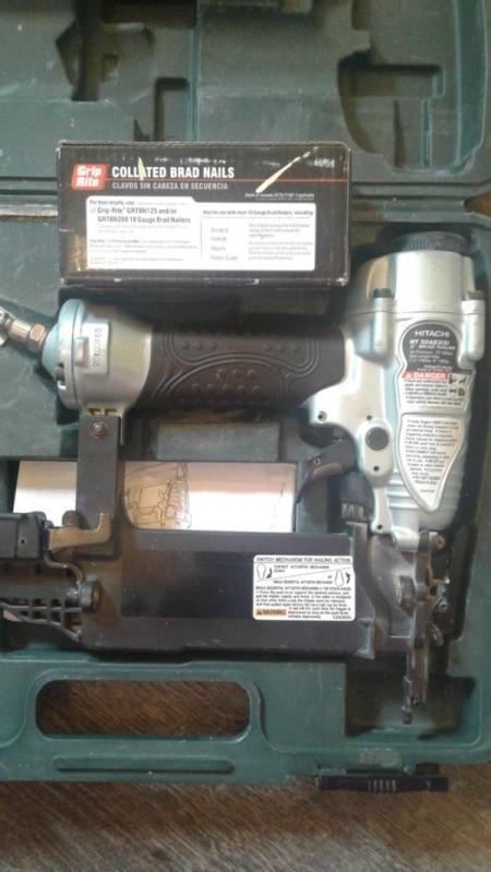 Pallet Wood Ceiling - nail gun