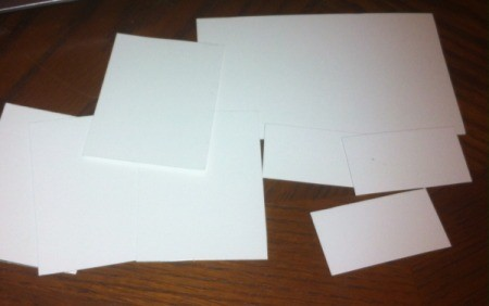 Handmade Labels for Storage Containers and Drawers - cut paper or index cards to size
