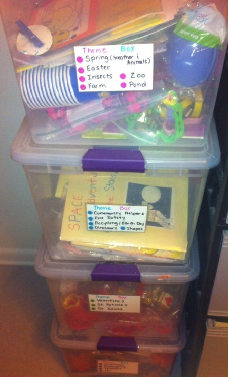Handmade Labels for Storage Containers and Drawers - labels on tubs