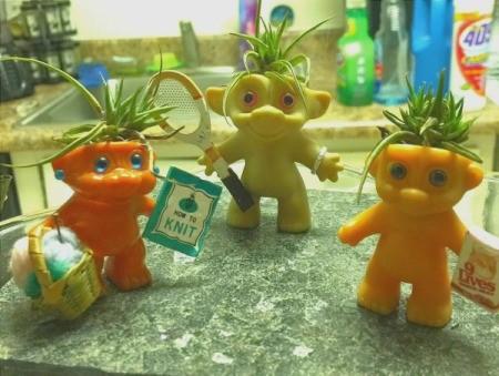 Air Plant Trolls - trolls with accessories added